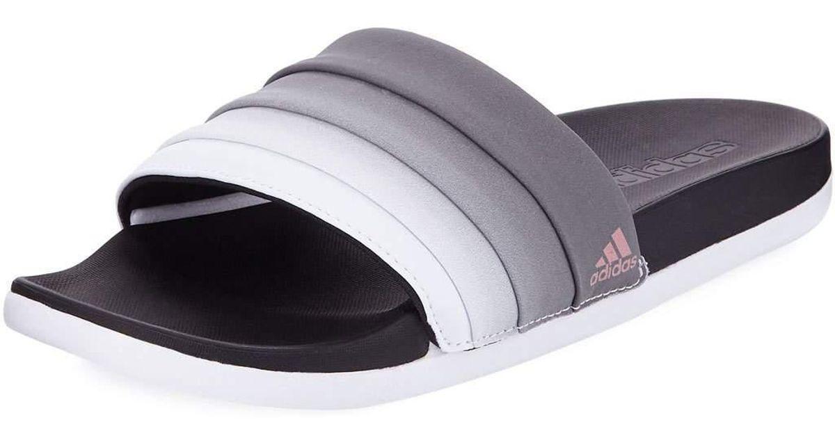 c8fc6188bcf Lyst - adidas Adilette Ombre Comfort Slide Sandals in White