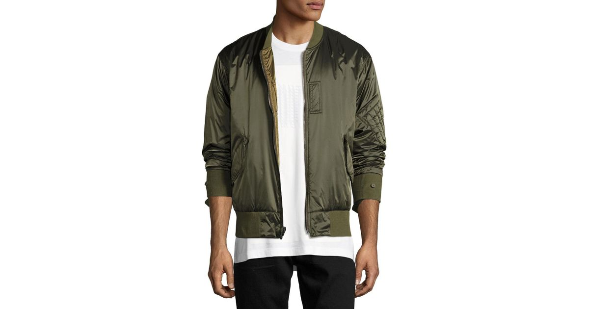 feda5012c Helmut Lang - Green Reversible Satin Bomber Jacket for Men - Lyst
