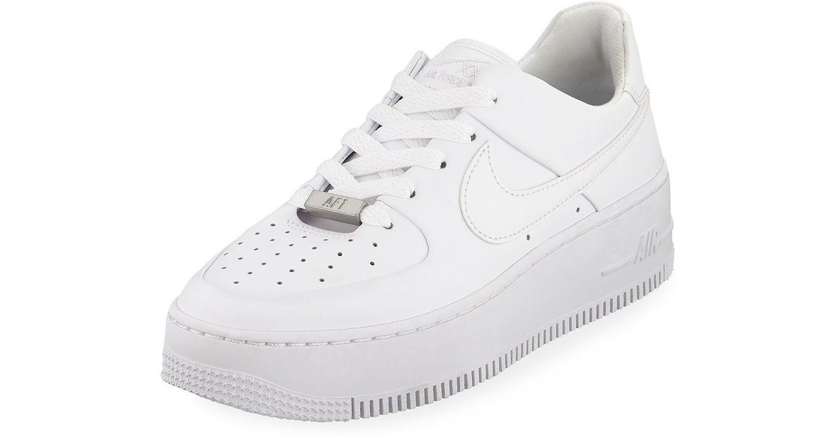 Lyst - Nike Air Force 1 Sage Low-top Sneakers in White 4455e77ca