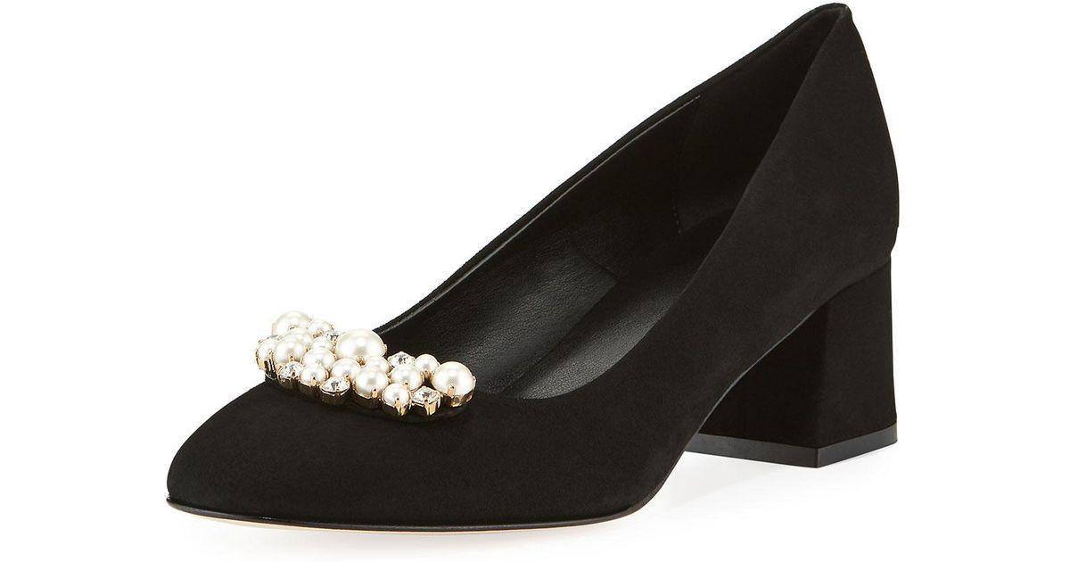 26909db39ba89 Lyst - Sesto Meucci Mindy Low-heel Pearly Ornament Pumps Black in Black for  Men