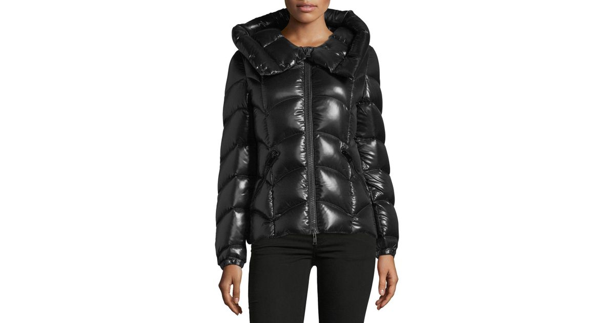 a9726a954 Lyst - Moncler Anthia Hooded Wave Puffer Jacket in Black