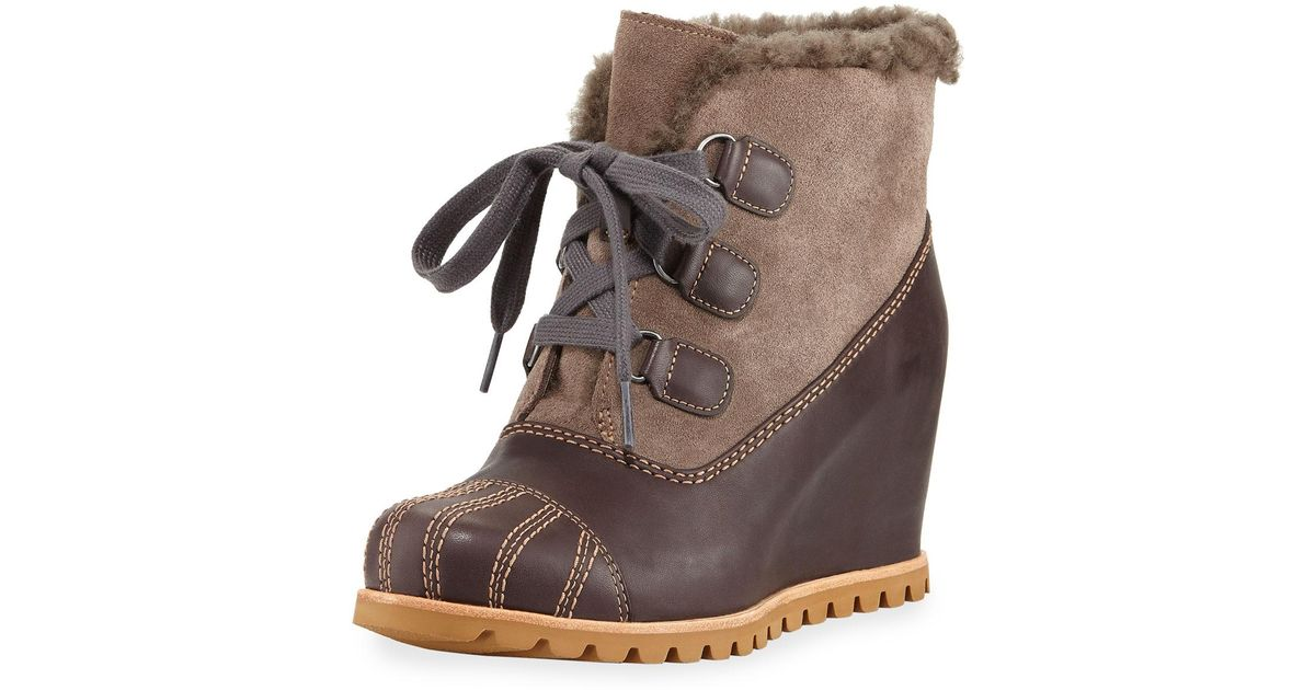 99988b17f4c Lyst - Ugg Alasdair Mixed Platform Wedge Boot in Brown