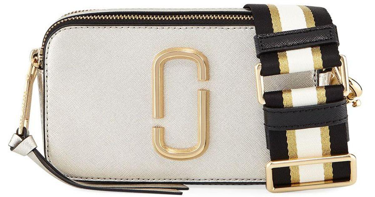 0cc9cc7f3d1 Marc Jacobs Metallic Snapshot Leather Camera Bag - Lyst