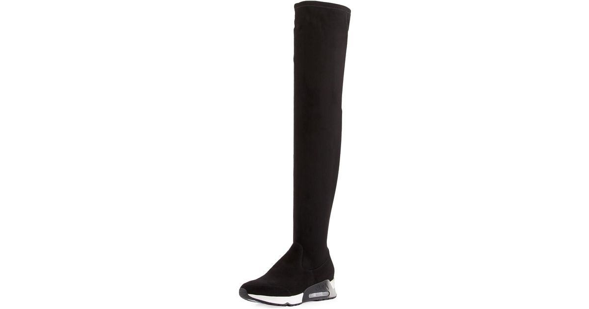a11f6f34aa24 Lyst - Ash Limited Over-the-knee Sneaker Boot in Black