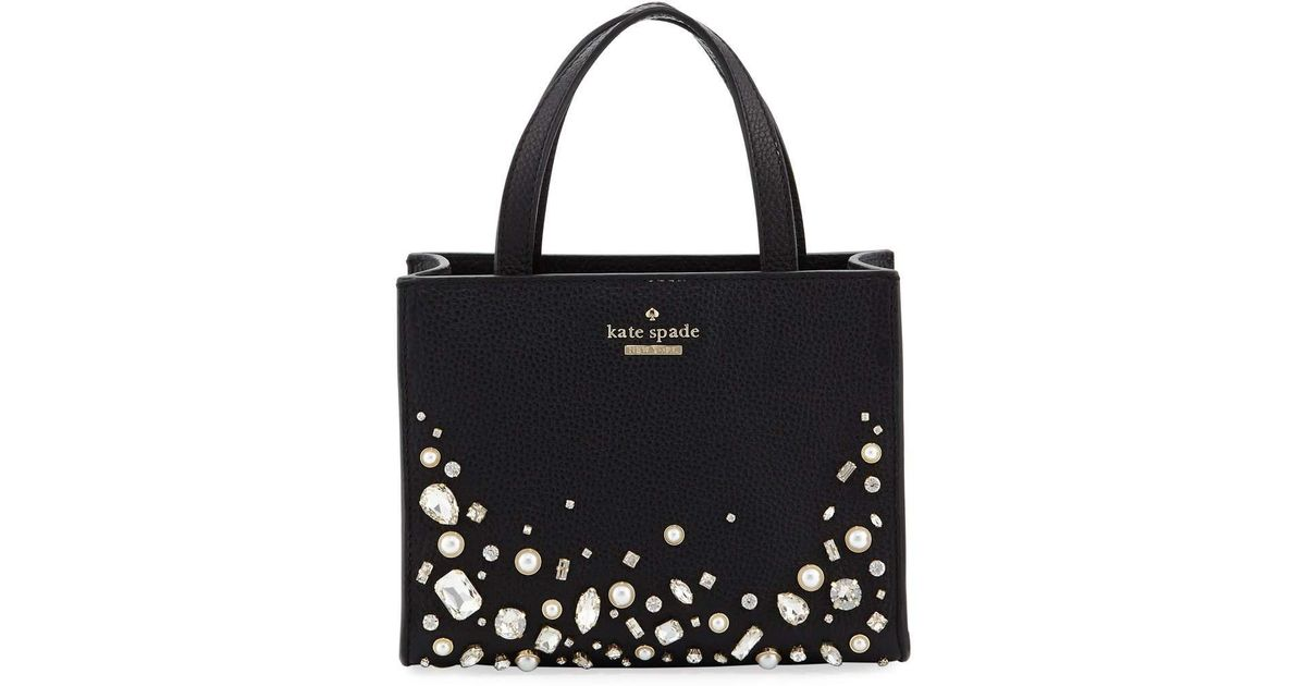 5aa5812d56e4 Lyst - Kate Spade Hayes Street Luxe Sam Tote Bag in Black