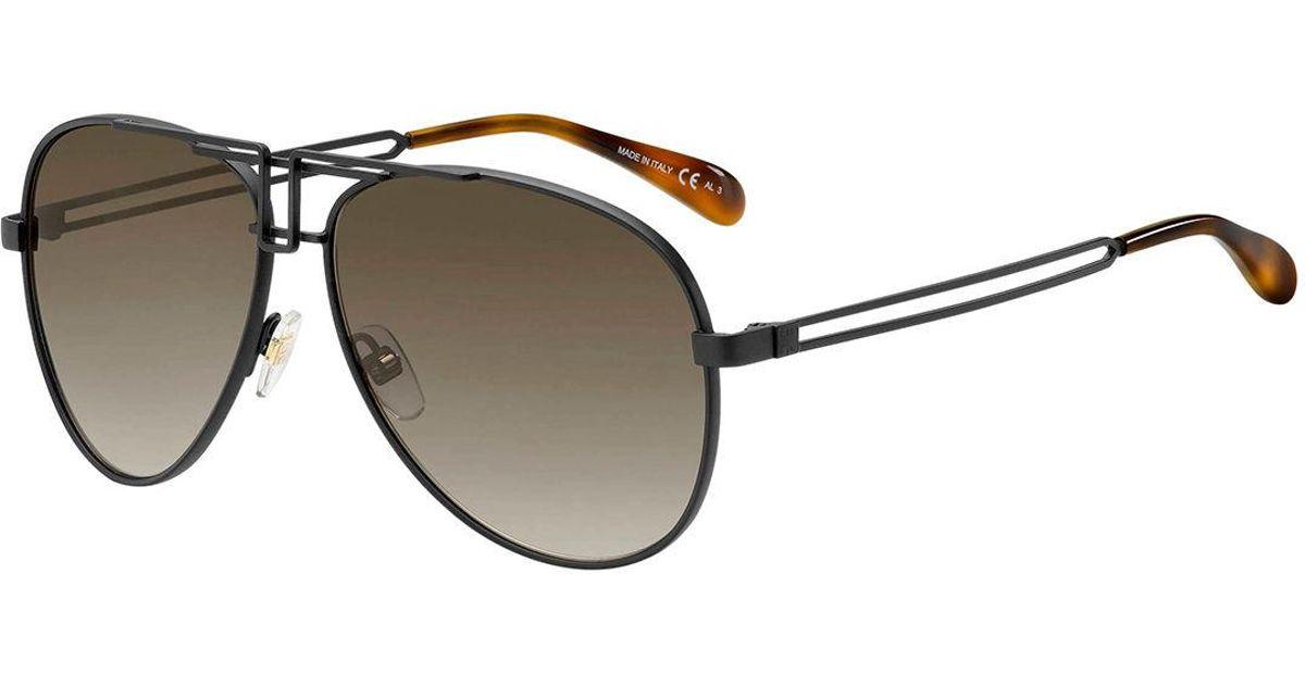 cc18d07eb7e2 Lyst - Givenchy Metal Cutout Aviator Sunglasses in Black