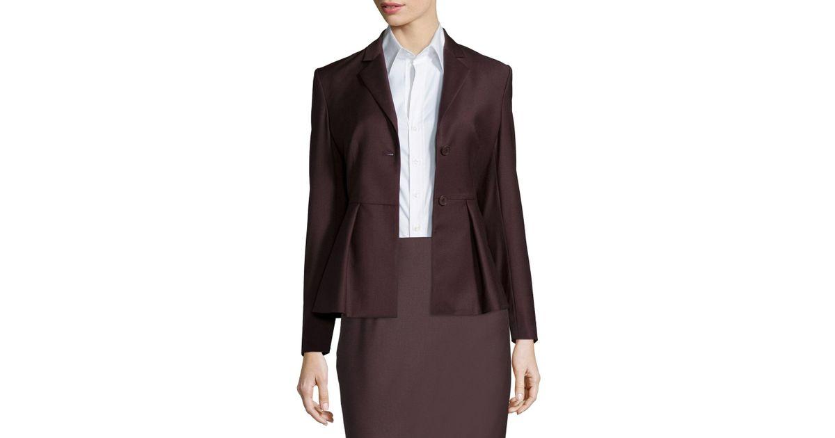 01b9e311285a Lyst - Theory Braneve Wool-blend Peplum Jacket