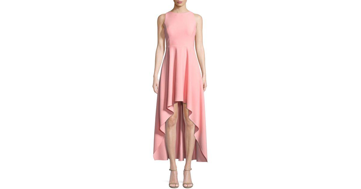 6fd050ef9b Lyst - Aidan By Aidan Mattox Scuba Crepe Strappy High-low Dress in Pink