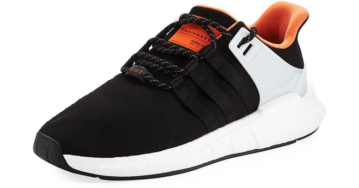 Los hombres Lyst Adidas EQT Support ADV 93 17 zapatillas en negro para hombres
