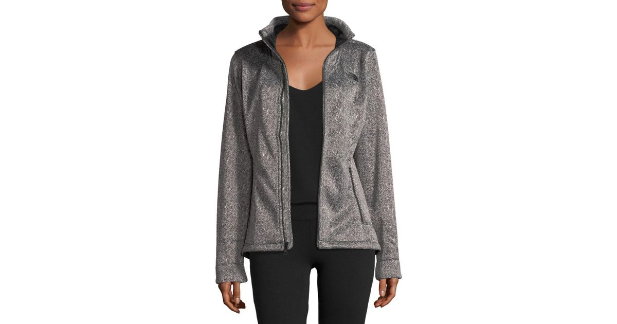 a16757888 The North Face - Black Apex Chromium Zip-front Herringbone-print Thermal  Jacket - Lyst