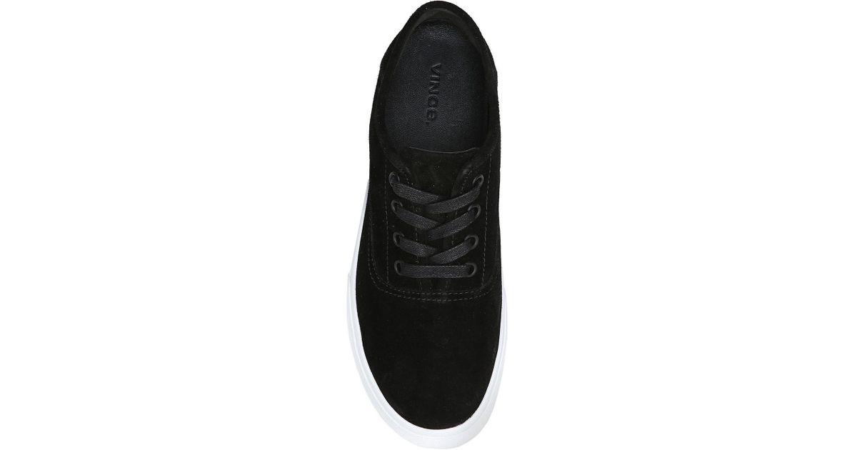 b6fdd2e66e2 Lyst - Vince Copley Suede Platform Low-top Sneaker in Black