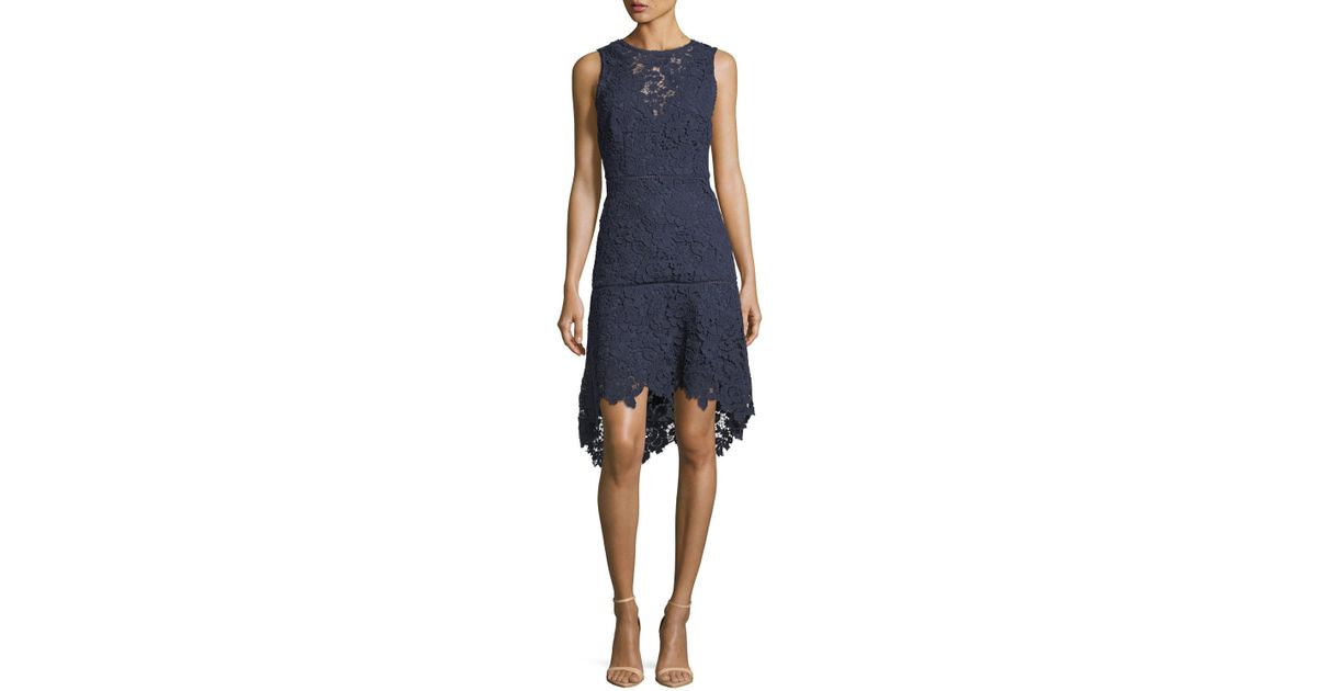 7b870f74b184 Joie Bridley Lace High-low Dress in Blue - Save 84% - Lyst