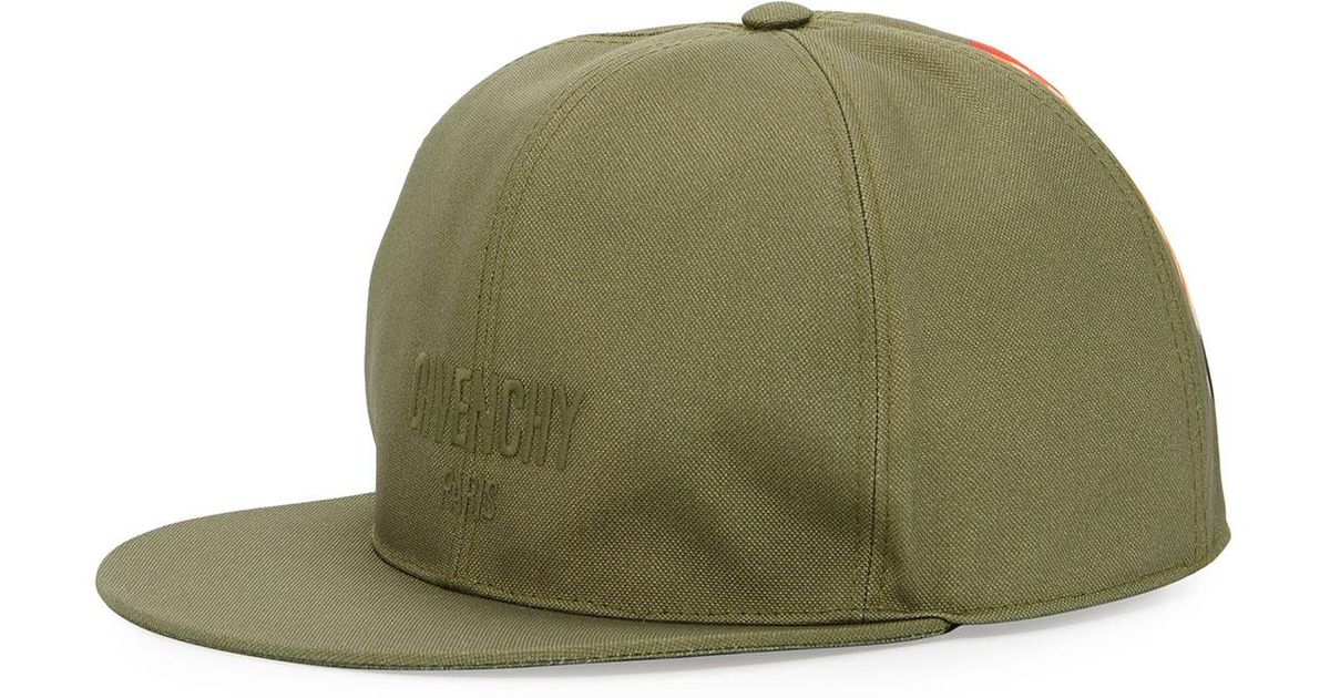 3c74224f Givenchy Logo Flat-bill Hat With Wing Print in Green for Men - Lyst