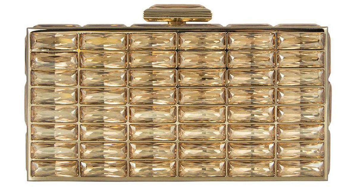 7bf5f0d350564 Lyst - Judith Leiber New Goddess Crystal Clutch Bag in Metallic