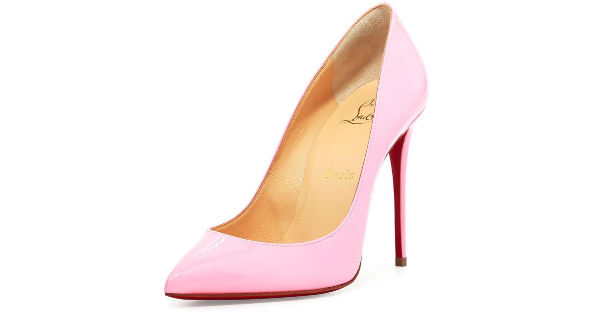 9d725f3f506 Christian Louboutin - Multicolor Pigalle Follies Patent 100mm Red Sole Pump  - Lyst
