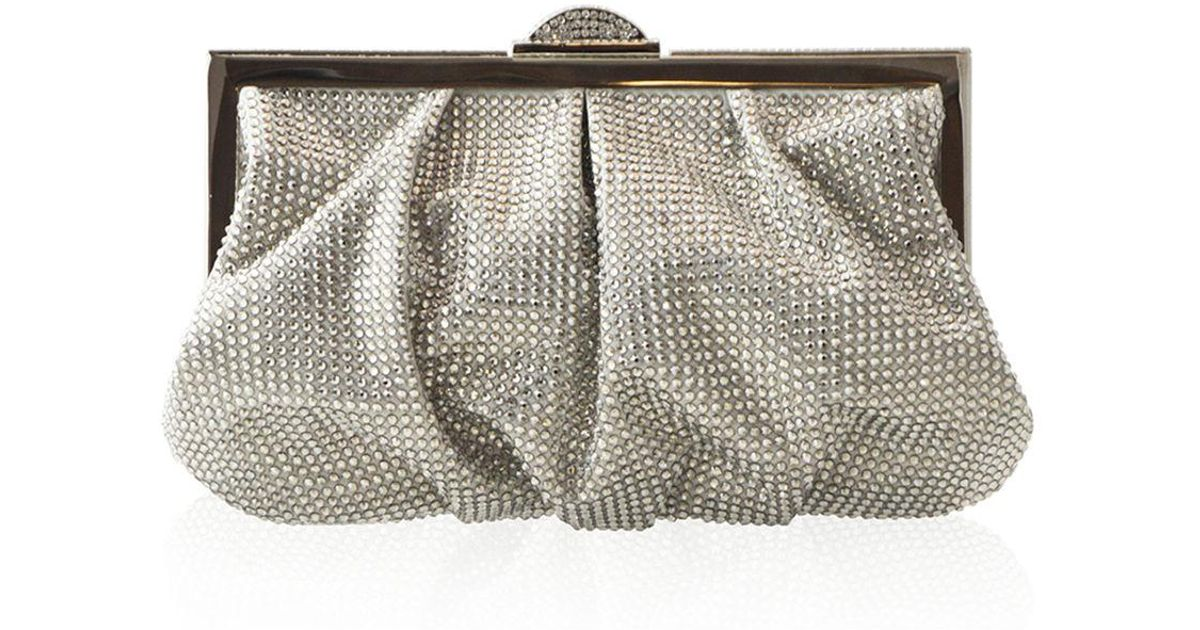 Judith Leiber Natalie Full-Bead Foiled Clutch Bag