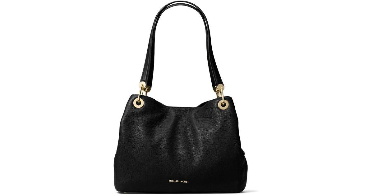 4f7632daecf61 Lyst - MICHAEL Michael Kors Raven Large Leather Tote Bag in Black