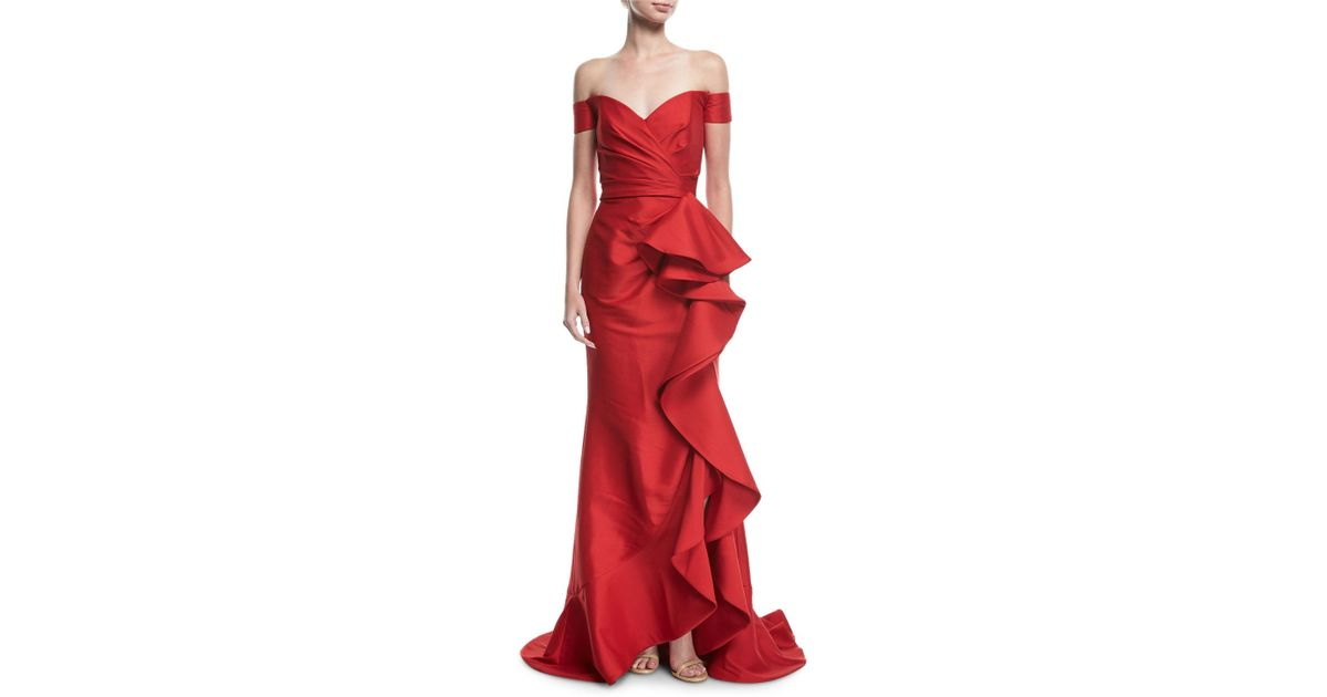 Amazing Badgley Mischka Red Gown Component - Images for wedding gown ...