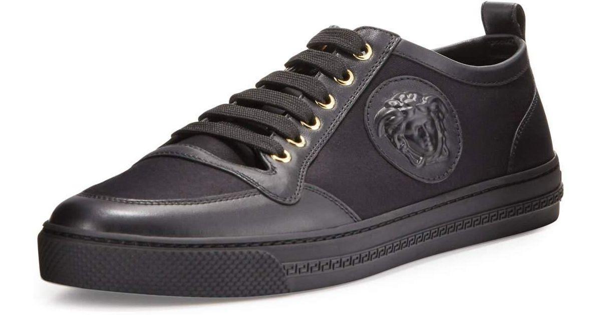 VERSACE Leather Sneaker aEhV07XbC