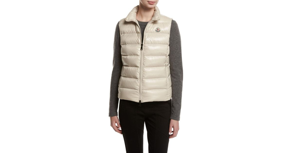4015e440a Moncler Yellow Ghany Shiny Quilted Puffer Vest