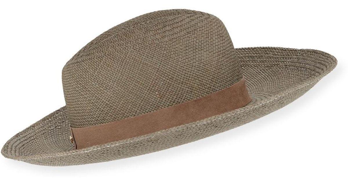 3e712320 Lyst - Janessa Leone Angelica Straw Upturn Fedora Hat for Men