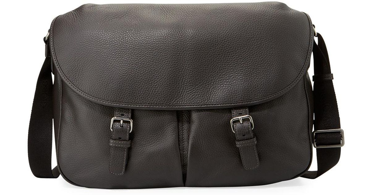 Lyst - Giorgio Armani Men s Vitello Leather Messenger Bag for Men 498cc6d903e85