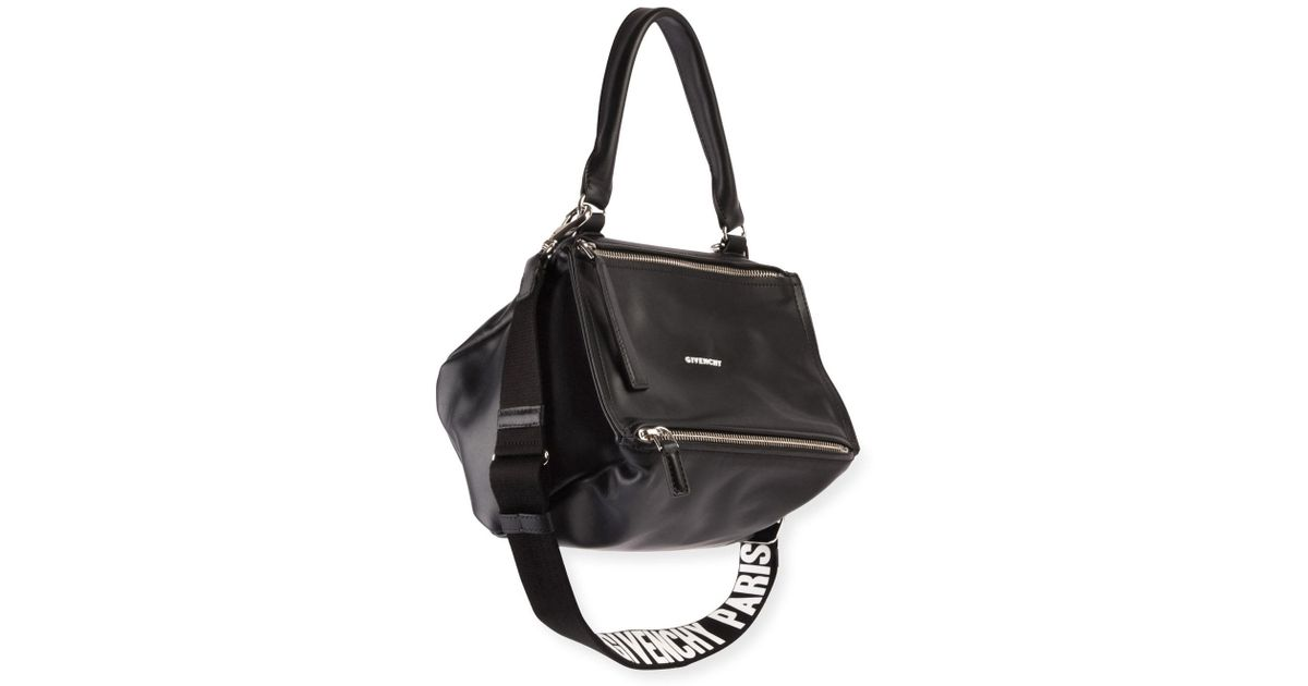 Lyst - Givenchy Pandora Small Logo-strap Satchel Bag in Black f0c8c843c951c