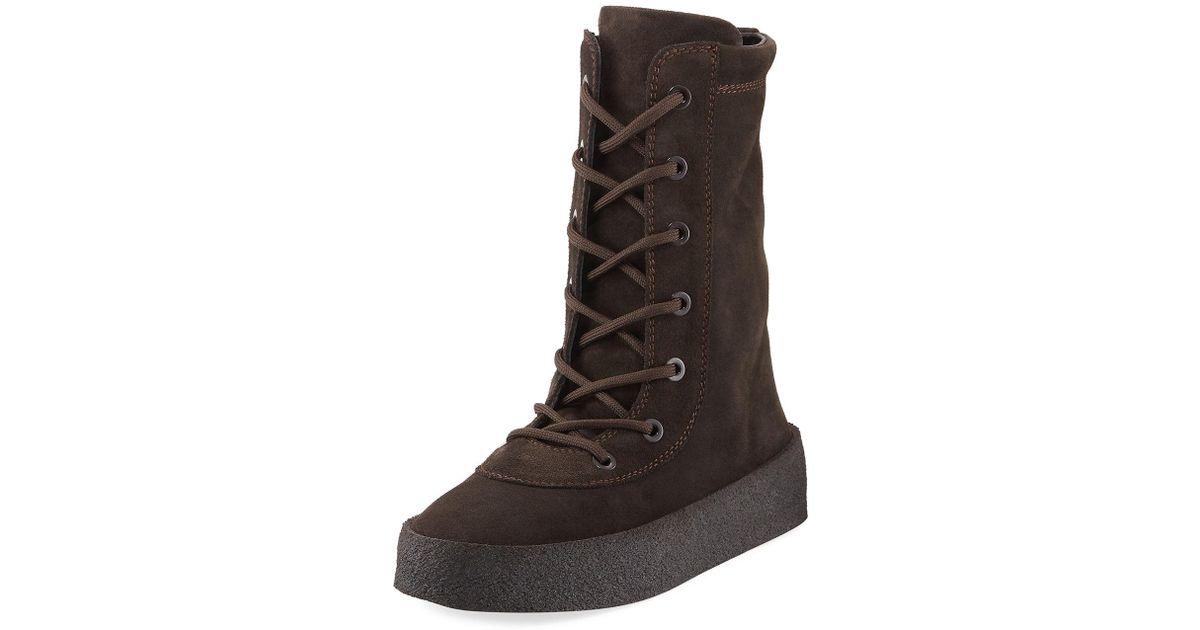 8e33c0041 Lyst - Yeezy Season 2 Crepe Boot in Gray
