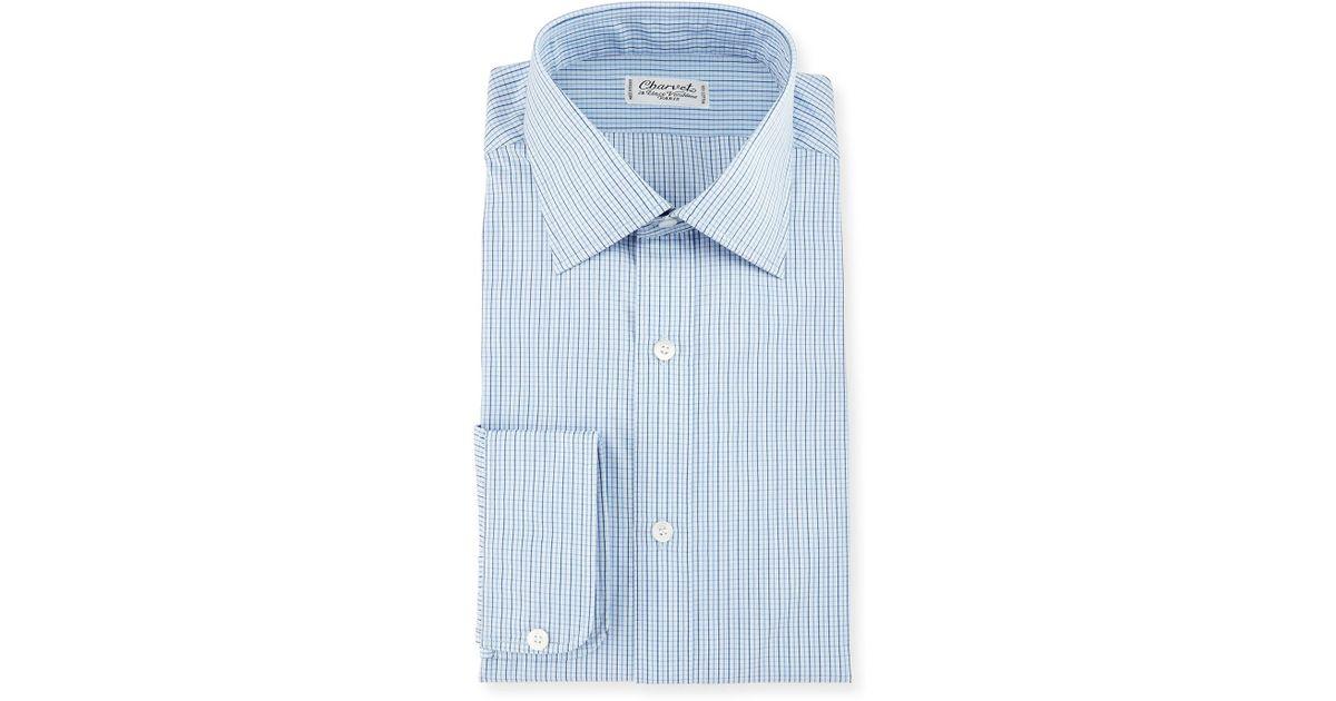 bcdcbf0a Charvet - Blue Graph Check Dress Shirt for Men - Lyst