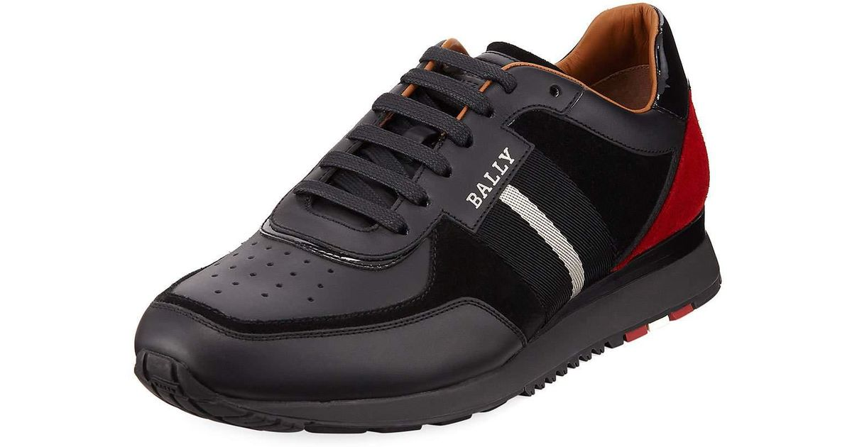 4945d7896a5a15 Lyst - Bally Men s Aston New Leather Sneakers W  Trainspotting Stripe in  Black for Men