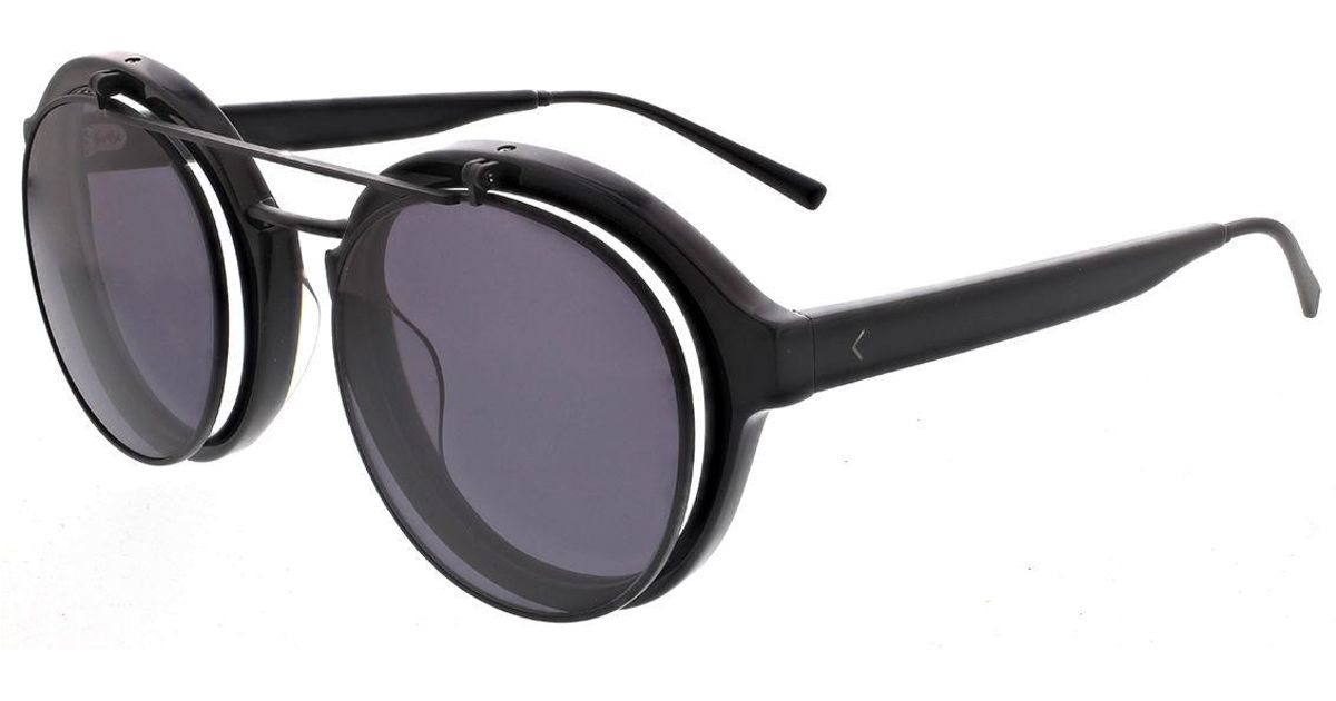 8d4b46be1ef Lyst - Kendall + Kylie Raquel Round Sunglasses in Black