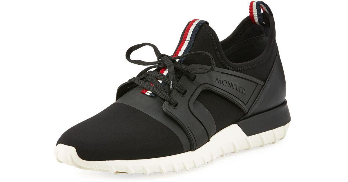 9dfb66e9f3e58 Moncler Emilien Trainer Sneaker in Black for Men - Lyst