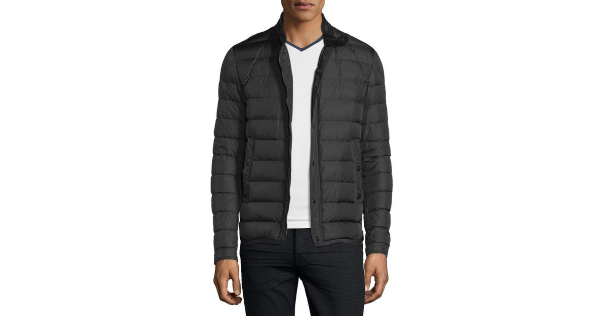 a116f4f4b Moncler - Black 'hanriot' Padded Jacket for Men - Lyst