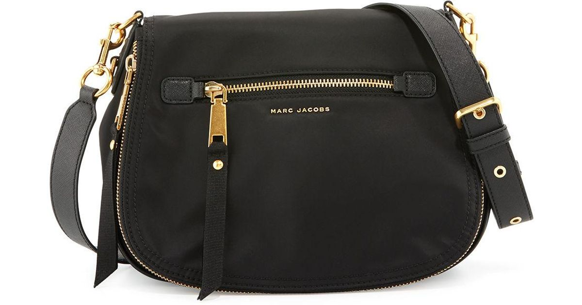 10031431703d Lyst - Marc Jacobs Trooper Nomad Nylon Saddle Bag in Black