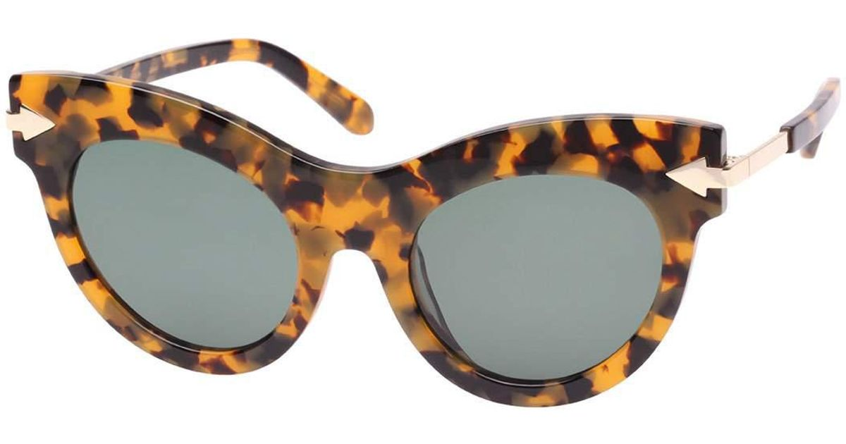 fd0a9ce7cfd5 Karen Walker Miss Lark Tortoise Cat-eye Sunglasses in Brown - Lyst