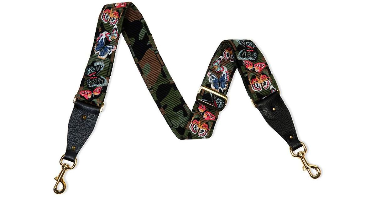 0039567c06f Valentino Camu Butterfly Guitar Strap For Handbag in Black for Men - Lyst