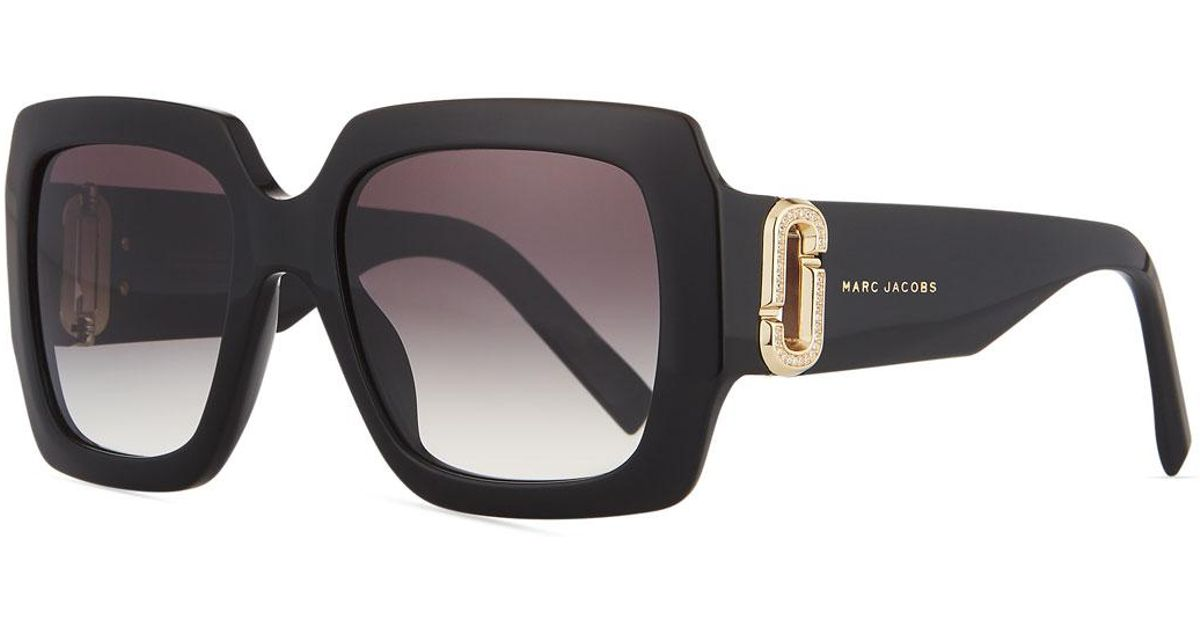 13f498c99c4 Lyst - Marc Jacobs Neiman Marcus 110th Anniversary Edition Square  Sunglasses Black gray in Black