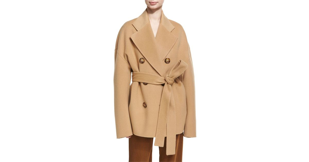 67cf98c1336 Lyst - Acne Studios Claar Double-breasted Wool-cashmere Coat in Natural