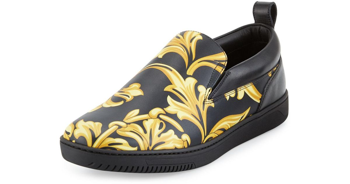 79cf393c7e Men's Shoe Leather Barocco In For Black Lyst Skate Men Versace OwqxPZ5w