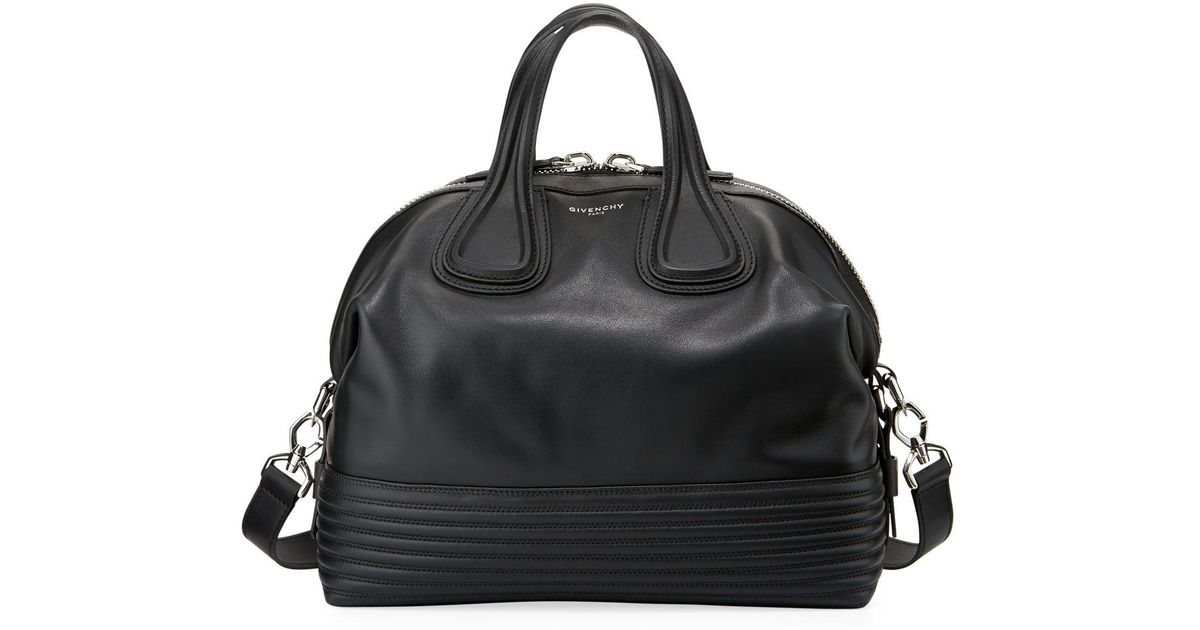 6fe3f3498891 Lyst - Givenchy Nightingale Medium Biker Satchel Bag in Black