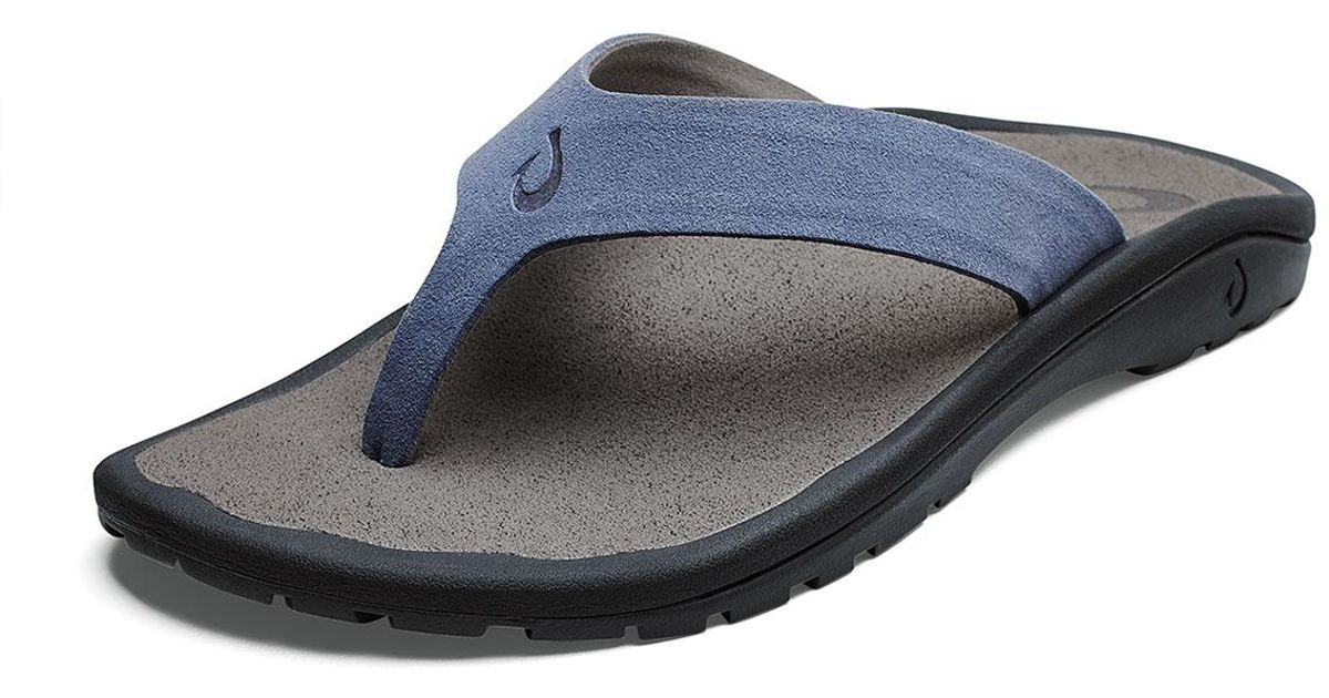 a4a60760c2d4 Lyst - Olukai Men s Ohana Hookahi Faux-suede Flip-flop Sandals in Blue for  Men
