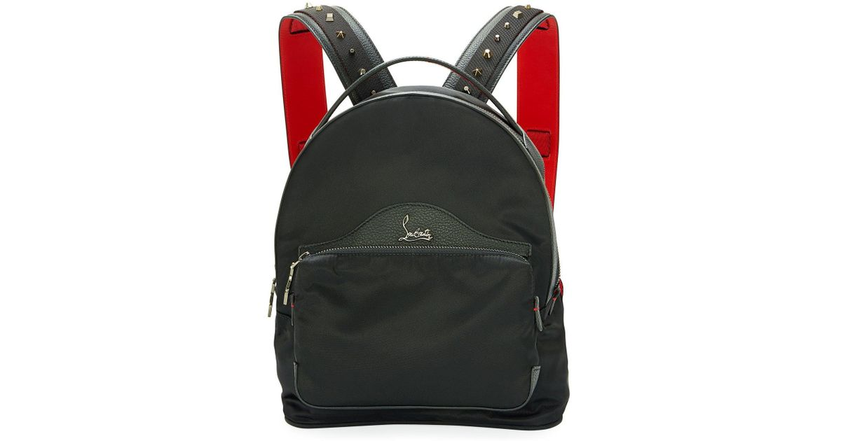 eb0260517116 Lyst - Christian Louboutin Backloubi Small Nylon Backpack Black in Black