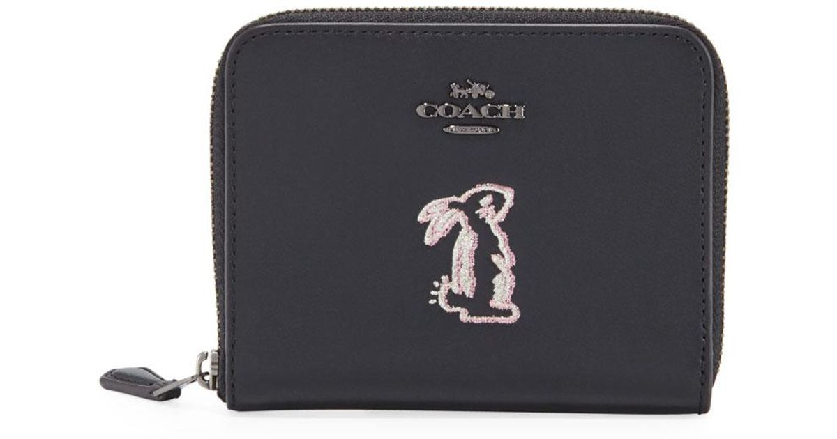 31929a1abfe15 Lyst - COACH X Selena Gomez Bunny Small Wallet in Black