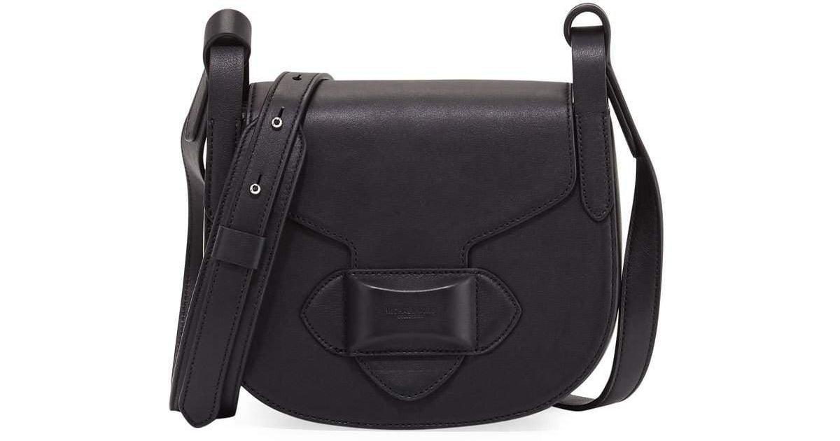 fcd0898a26de Lyst - Michael Kors Daria Small Leather Crossbody Bag in Black