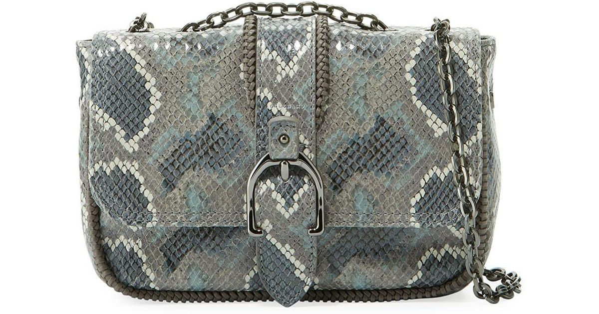 7af7ca25ed31 Lyst - Longchamp Amazon Python Mini Crossbody Bag in Gray