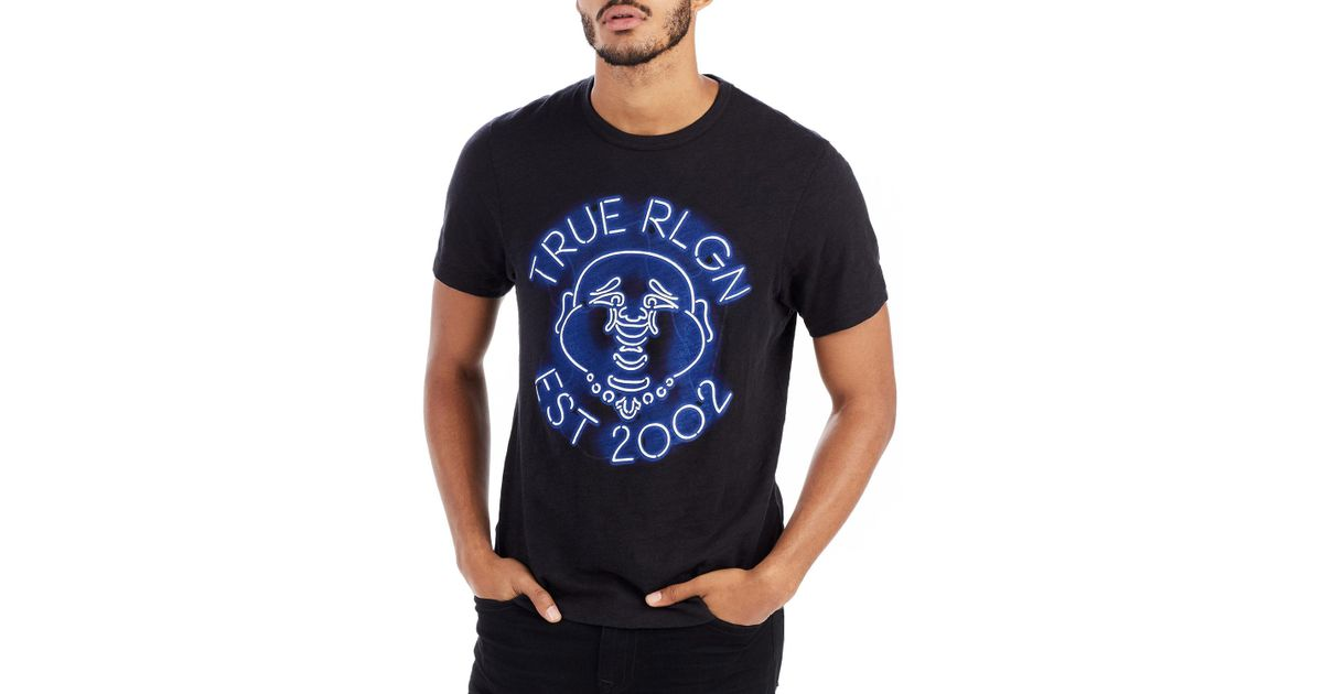 7dd7d0476 True Religion Neon Buddha Graphic T-shirt in Black for Men - Lyst