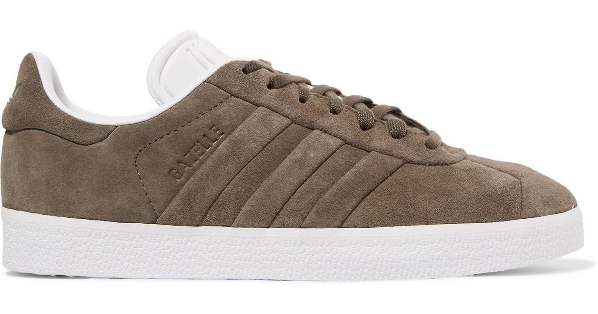 Gazelle Stitch And Turn Suede Sneakers - Army green adidas Originals dWZHJJ