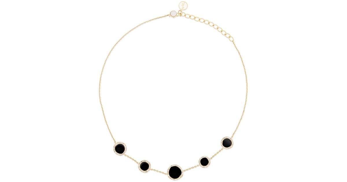 Anissa Kermiche Belle De Nuit 14-karat Gold, Diamond, Onyx And Mother-of-pearl Choker