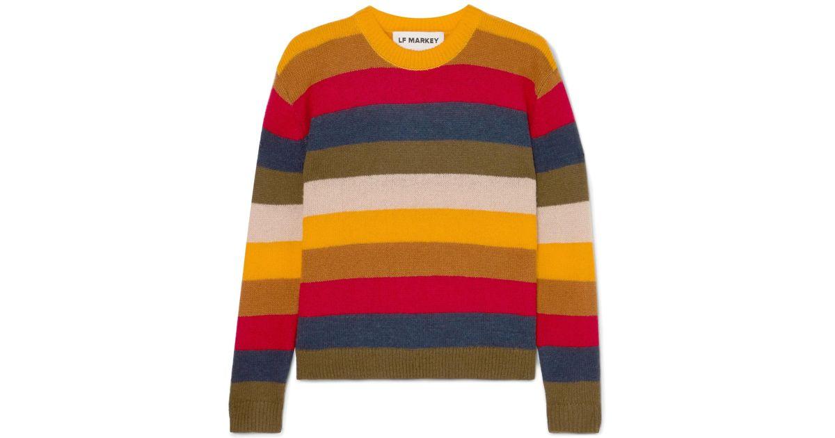 L.F.Markey Romeo Striped Knitted Sweater in Yellow - Lyst 5f17e4693