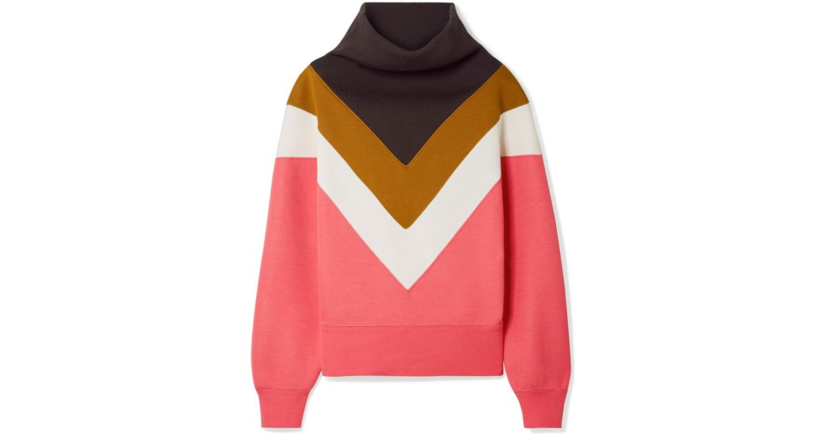 Oversized Ribbed Knit-paneled Jersey Sweatshirt - Bubblegum Marc Jacobs With Paypal Low Price MgXDv
